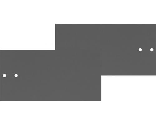 Mio Predné plochy na skrinku s koľajničkami tmavo sivé