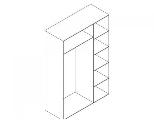 Skriňa 3-dverová
