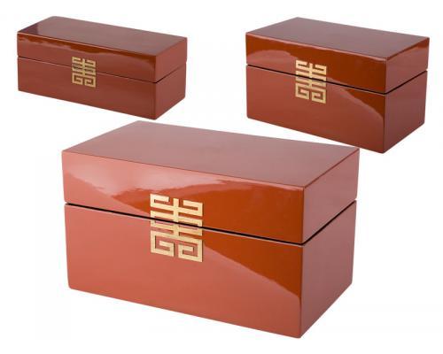 Krabica Mizu červená drevo