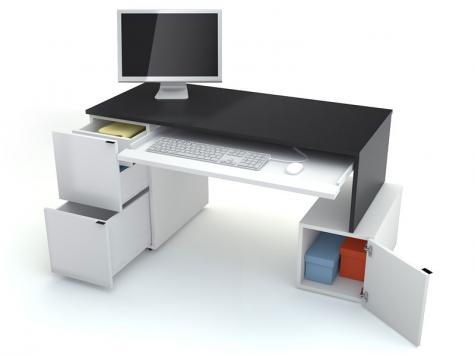 PC stolík L 140 s kontajnerom