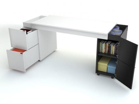 PC stolík Transformers s bielym plátom