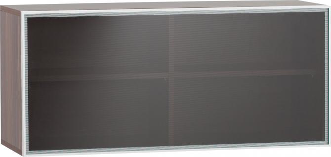 Skrinka záves vodorovná so sklenenými dverami